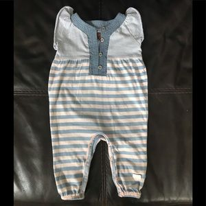 7 For All Mankind Baby girl 3-6 M Striped Jumpsuit